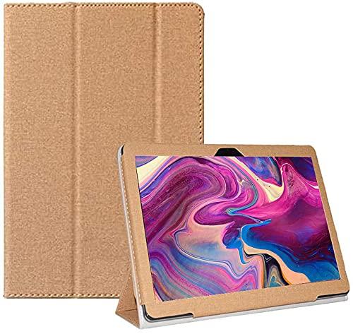 YHFZR Hülle für CHUWI SurPad 10,1 Zoll, Ultra Schlank Schutzhülle Etui mit Standfunktion Smart Hülle Cover für CHUWI SurPad 10,1 Zoll, Gold