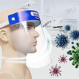 Alivier Protección Facial de Seguridad Protección antivaho Completa Protección Facial Anti-Saliva Anti-Aceite Protectores faciales con Banda elástica