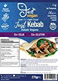 JUST VEGAN | Kebab Sin SOJA | Sin GLUTEN | 100% Vegetal | Plant Based | Vegano | 275g