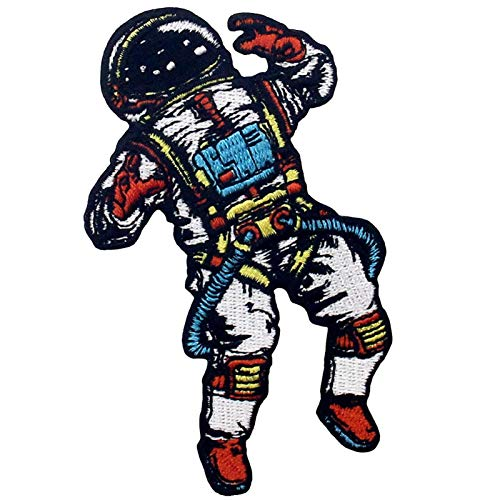 Parche termoadhesivo para la ropa, diseño de Astronauta perdido en el espacio