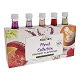 Monin - Gourmet Flavorings Floral Collection, Great for Cocktails, Lemonades, Teas, & Sodas, Gluten-Free, Dairy-Free, (Violet, Lavender, Rose, Hibiscus, & Elderflower) | 50 ml Per Bottle