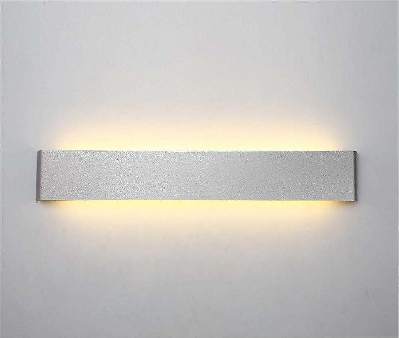 Wandleuchten luckyNO.1 Led-Kreativ Wohnzimmer Flur Hotel Schlafzimmer Bedside, Silber 60Cm Fest Wandlampe