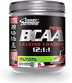 Inner Armour BCAA Peak, All Natural Red Raspberry, 379 Grams