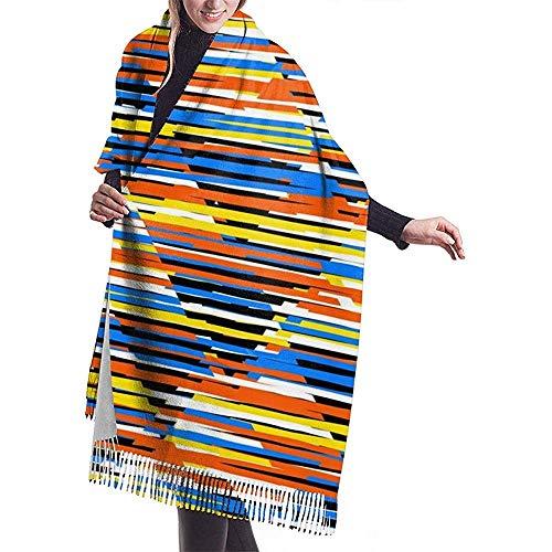 Cathycathy heldere kleurrijke strepen. Multicolor Stripes patroon Blanket Scarf Warm Rolgordijn Cape