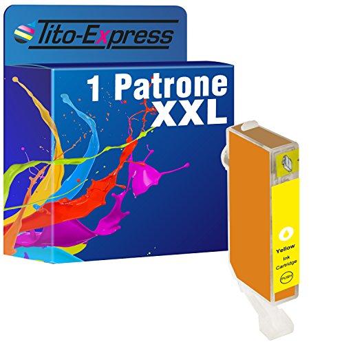 1Cartucho de tinta Calidad de Platinum de serie para Canon CLI-521Y Yellow, 12ml contenido de tinta XL con chip y indicador, por ejemplo, para Canon Pixma IP 3600, Canon Pixma MP 990, Canon Pixma MP 630, Canon Pixma MP 620, Canon Pixma MP 540, Canon Pixma IP 4600X, Canon Pixma MX 860, Canon Pixma MP 560, Canon Pixma MX 870, Canon Pixma IP 4700, Canon Pixma MP 640, Canon Pixma MP 550, Canon Pixma MP 640R, Canon Pixma MP 980, Canon Pixma IP 4600
