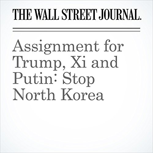 Assignment for Trump, Xi and Putin: Stop North Korea audiobook cover art