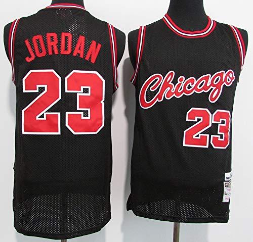 TGSCX Camiseta de baloncesto para hombre, de la NBA Chicago Bulls 23 # Michael Jordan, cómoda, ligera, transpirable, de malla bordada Swingman Retro, camiseta de manga corta, A, XL