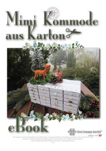 Mimi Kommode Bastelanleitung mit 24 Schubladen-System auf CD. Schmuckkommode oder Adventskalender. Für Kinder ab 8 Jahren