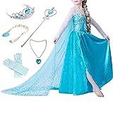 Canberries  Mädchen Prinzessin Schneeflocke Kleid Kostüme, #01 Kleid und Zubehör, Gr. 92...
