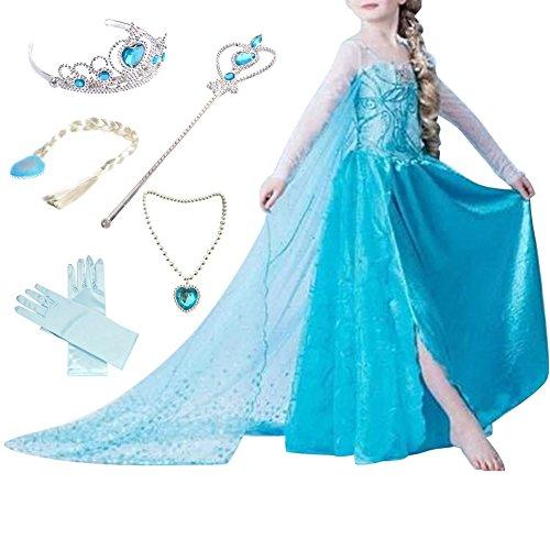 Canberries  Mädchen Prinzessin Schneeflocke Kleid Kostüme, #01 Kleid und Zubehör, Gr. 92 (Herstellergröße- 100cm)