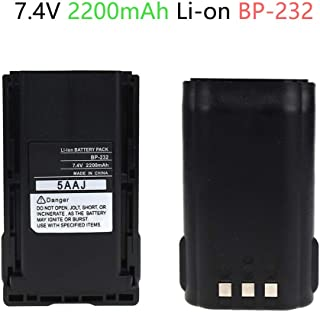 Replacement Battery for Icom BP-232 Battery - for IC-A14 IC-F33 IC-F3011 IC-4011 Two-Way Radio Battery(2200mAh 7.4V Li-ON)