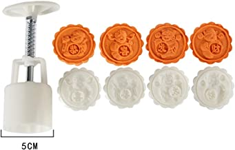 Bakeware Sets | Mooncake Mold Flower Mid-Autumn Festival Hand Pressure Fondant Moon Cake Decoration Tools Cookie Cutter Pastry Baking Tool W0715 |Cookie Cutter | By ATUTI