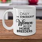 Zor345damilla - Tazza da tè in ceramica per allevamento di cavalli, idea regalo per allevatori di cavalli