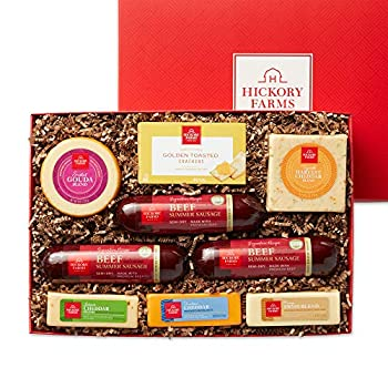 Hickory Farms Meat & Cheese Large Gift Box   Gourmet Food Gift Basket Perfect For Family Birthday Sympathy Congratulations Gifts Retirement Thinking of You Business and Corporate Gifts