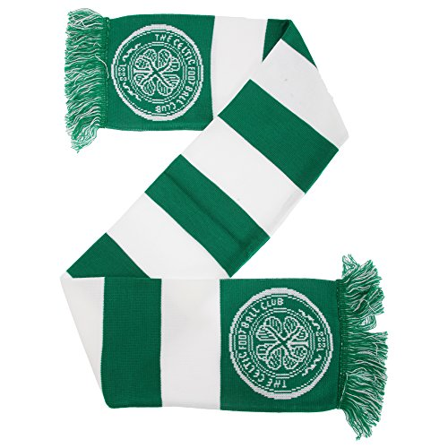 Celtic FC Official Football Supporters Crest/Logo Bar Scarf (One Size) (Green/White)