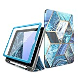 i-Blason Case for iPad 6th Generation, iPad 9.7 Case 2018/2017, [Built-in Screen Protector] Full-Body Trifold [Cosmo] Smart Cover with Auto Sleep/Wake & Pencil Holder for Apple iPad 9.7 Inch (Blue)