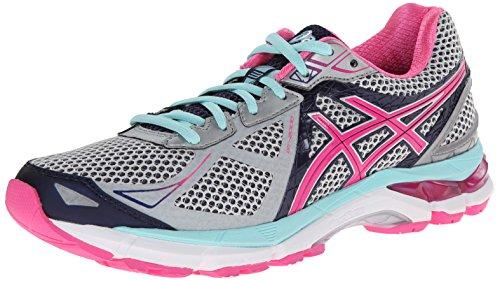 ASICS Women's GT-2000 3 Trail Running Shoe Lightning/Hot Pink/Navy 7 2A - Narrow