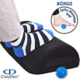 COZYDOC Ergonomic Foot Rest Cushion Under Desk + Massage Ball  ...
