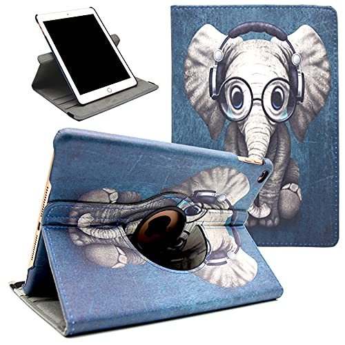 Amlope Case for iPad 9.7 2018 2017 / iPad Air 2 / iPad Air, 360 Degree Rotating Case Stand Cover with Auto Wake/Sleep Function for Apple 9.7 inch iPad 2017 & iPad 2018, iPad Air, iPad Air 2