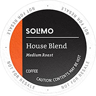 Amazon Brand - 100 Ct. Solimo Medium-Dark Roast Coffee Pods, House Blend, Compatible with Keurig 2.0 K-Cup Brewers