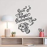 Dwqlx Nur Weiter Schwimmen Wandtattoo Findet Nemo Dory