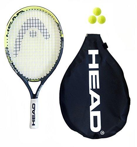 Head Novak 19 Zoll Junior Tennisschläger + 3 Tennisbälle