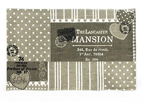 BIANCHERIAWEB Tappeto da Cucina in Cotone Modello Maison Pois 50x80 cm Maison Pois