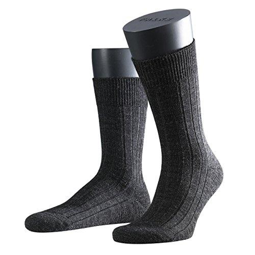 FALKE Heren Sokken Tapijt in de schoen 2-pack, Maat: 45/46; kleur: antraciet melange