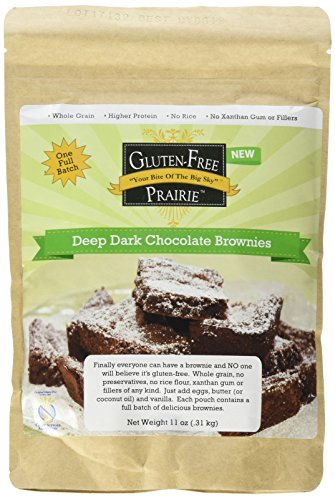 Gluten-Free Prairie Deep Dark Chocolate Brownie Mix, Certified Gluten Free Purity Protocol, Non-GMO, 11 Ounces (Pack of 2)