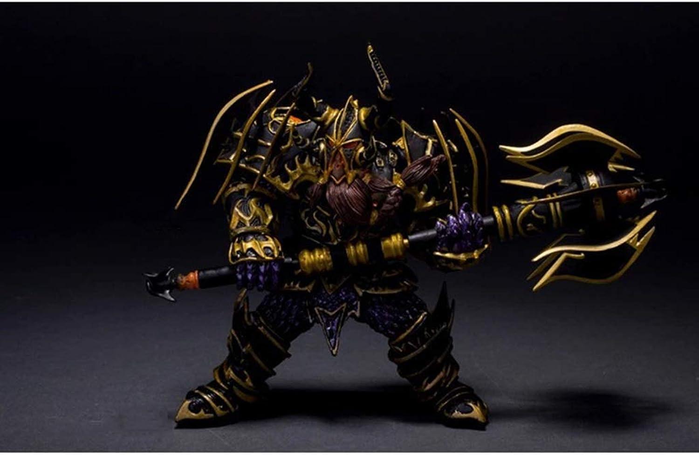 muchas concesiones HappyL World World World of Warcraft Juguete Statue Enano Guerrero Modelo de Juego estático de PVC Decoración de Escritorio Colección de artesanías - Altura  4.73in Estatua de Juguete  precio razonable
