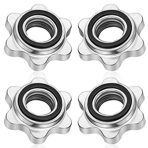 JPYH Collari Spin-Lock con Bilanciere 4 Pezzi Morsetti a Vite Esagonale per Allenamento Fitness con Manubri,Accessori Bilanciere