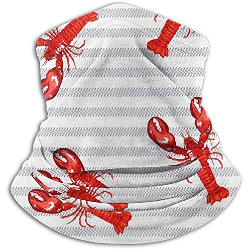 Gesichtsschal Red Lobster Snowboard Bandanas Hals Gamasche Wärmer Hals Gamasche Rohr Dehnbar Multifunktionale Hals Gamasche Halswärmer Winddicht Leicht Camping Camping Winter Erwac
