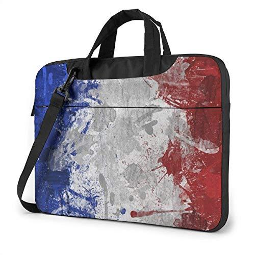 Stoßfeste Laptoptasche Airbru-sh France Flag Schulter-Umhängetasche Männer Frauen Schlanke Aktentasche für das Geschäftsbüro