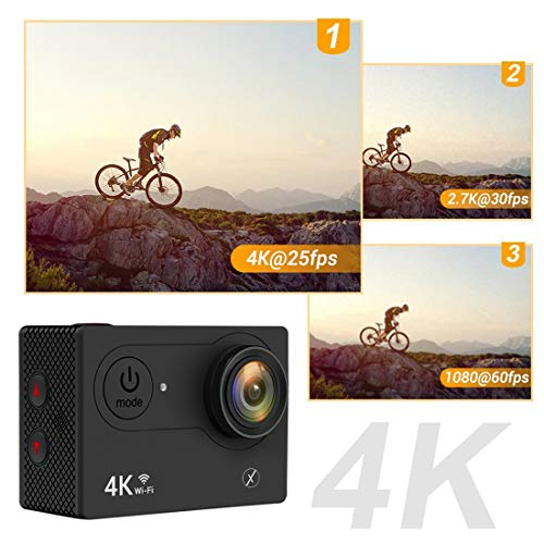 Xmate Stunt Sports Action Camera (Black) | Fast Mode - up to 120 FPS Video Recording |16MP Camera | 4K Video Vecording | Water-Resistant + SanDisk UHS-I A1 98Mbps 32GB Ultra MicroSD Memory Card