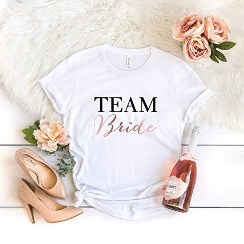 """T-Shirt """"Team-Bride"""" weiß aus 100% Baumwolle"""