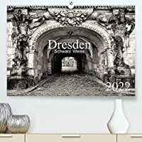 Dresden Schwarz Weiss 2022 (Premium, hochwertiger DIN A2 Wandkalender 2022, Kunstdruck in Hochglanz): Impressionen der Stadt Dresden in Schwarz Weiss. (Monatskalender, 14 Seiten )