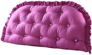 Almohada Triangular Grande para Lectura en la Cama, cojín Lumbar de Refuerzo para el Descanso, cojín de cabecera de cuña (Color : Pink Purple, Size : 180cm)