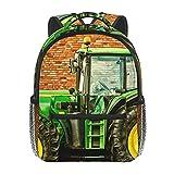 RTUBNSD Mochila Infantil para Niño Kindergarten Agricultura de la máquina del tractor Mochilas Kinder Preescolar Niñas Mochila Mochilas Lindo 2-5 Años