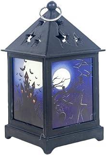 Oinna Lot de 2 lampes à LED pour Halloween Style rétro Couleur LED Veilleuse Bar Atmosphère Layout Accessoires Creux Décor...