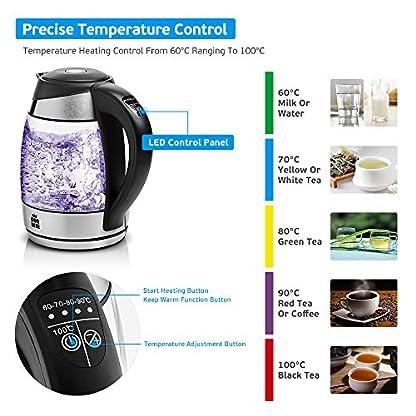 ForMe-Glas-Wasserkocher-18-L-Temperaturwahl-60-100C-Farbwechsel-LED-Temperatur-einstellbar-Glaskessel-I-Glaswasserkocher-Edelstahl-Boden-I-Teekessel-mit-Warmhaltefunktion-BPA-Frei