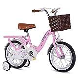 """KY Vélo Enfants Les Enfants de Fille vélo en Taille 12"""" 14"""" 16"""" 18"""" 20"""" avec Stabilisateurs et Panier (Size : 14inch)"""