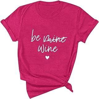 FELZ Camiseta para Mujer Día De San Valentín Mujer Impreso Blusa BáSica Jersey Tallas Grandes Chandal Cuello Redondo Blusa...