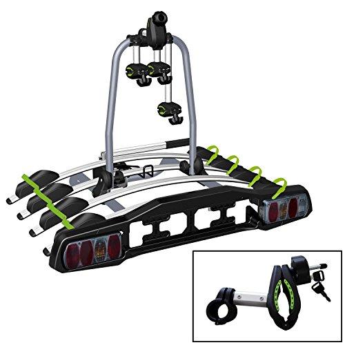VDP TBA Fietsendrager voor 2/3/4 fietsen, inklapbaar, voor trekhaak met Quick-Lock für 4 Fahrräder