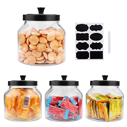 1.5 Quart Glass Jars With Sealed Lids, 4-Pack