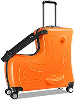 The Best Gift for Children,Large Capacity Suitcase,Kids Luggage(Orange, 20 inch)