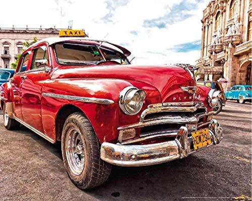 Papermoon Old Cuba Car Vlies Fotobehang 250x186cm 5-Banen