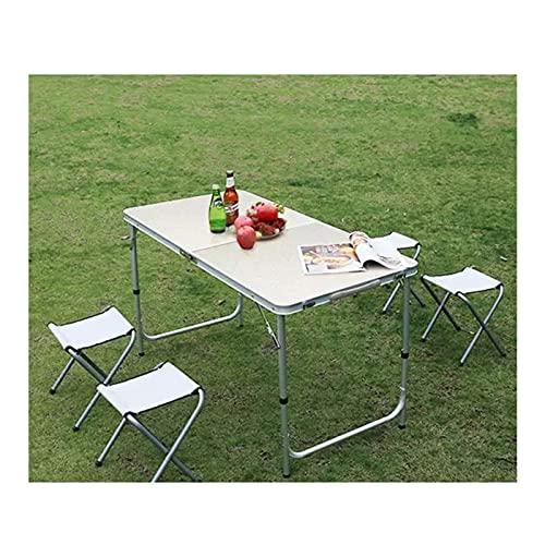 Juego de mesa y silla para exteriores Mesa y silla plegables portátiles...