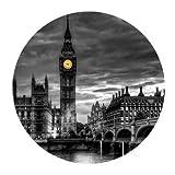 AEMAPE Alfombrilla de ratón Redonda Personalizada Big Ben London City Night Scene