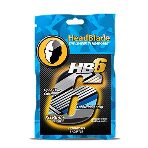 HeadBlade - scheermesjes 4 stuks - 6 messen