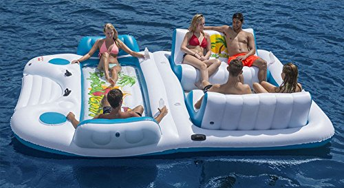 Cheapest Prices! Giant 6 Person Inflatable Raft for Pool Lake and River Rafting